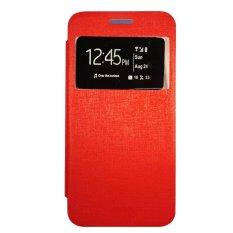 Gea Flip Cover Lenovo A2010 Standing - Merah