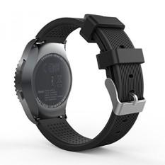 GEAR S2 CLASSIC/Gear Jam Olahraga Band, Moko Soft Jam Tangan Silikon Tali untuk Samsung GEAR S2 Classic Sm-r732/r735/MOTO 360 2nd (mens 42mm 2015) /Ticwatch 2/gear Sport Sm-r600 Smartwatch, Hitam-Intl