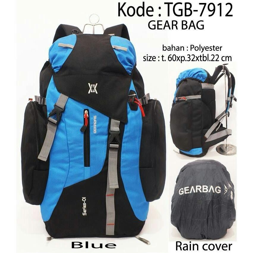 GearBag Tas Gunung Camping Mountain Backpack + FREE Raincover 85L