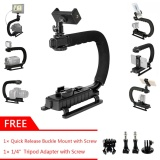 Review Gearbear 6 In 1 C Shape Rig Low Angle Position Steady Cam Handheld Stabilizer Handle Grip Smart Cellphone Holder Hot Shoe Gift Tripod Adapters Mount For Gopro Hero 6 5 4 Session 3 3 2 1 Sports Action Camera Dslr Camcorder Etc
