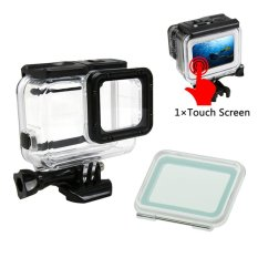 GearBear 60M Waterproof Housing Case + 45M Touch Screen Back Door Cover For GoPro Hero 6 5 Black Sports Action Camera(No Need to Disaseemble Lens Frame)