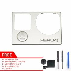 Gearbear Depan Cover & Tombol Mode Pengganti + Hadiah Penutup Lensa Cap & Alat Perumahan untuk GoPro HERO 4 Kamera Aksi