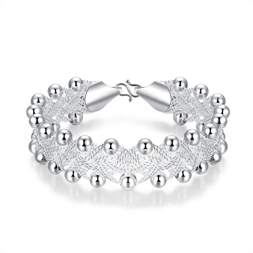 Spesifikasi Gelang Wanita Perak Fashion Pesona Kristal Berlapis Wanita Lady Perhiasan Bangle Gelang Untuknya Hadiah Intl Paling Bagus