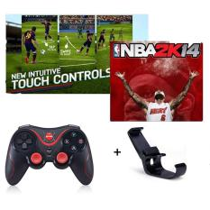 GEN GAME S5 Joystick Nirkabel Bluetooth Konsol Play Game Handle Controller Gamepad untuk IOS Android SmartPhone Tablet PC Smart TV Game Controller Free Holder-Intl