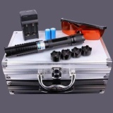 Jual Beli Generic High Power 445Nm Focus Visible Blue Beam Laser Pointer Pen Boxset With 5 Caps Color Black Intl Hong Kong Sar Tiongkok