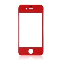 Generik Penggantian Kaca Depan untuk IPhone 4/4 S/4 CDMA GSM (Merah)-Intl