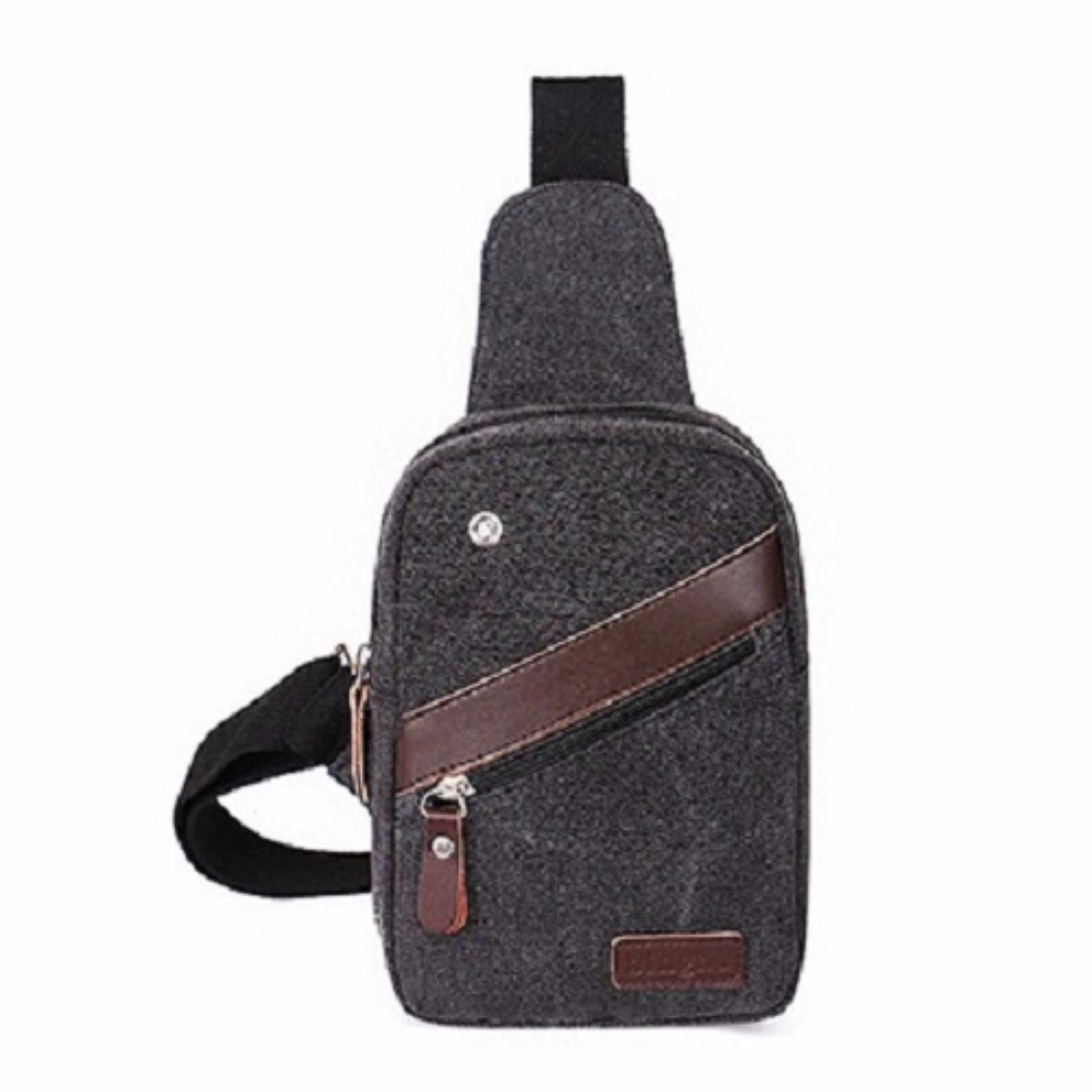 Generic Tas Selempang Messenger Canvas Import Mini Sling Bag Untuk Tablet Android / Ipad Mini SB-BH