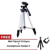 Review Terbaik Generic Tripod Camera Weifeng Kt3110A Silver Gratis Mini Tripod Octopus Holder U