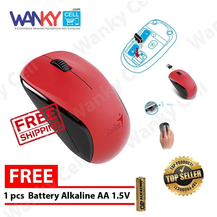 Promo Genius Mouse Wireless Nx7005 Gratis Alkaline Battery Aa 1 5V Genius