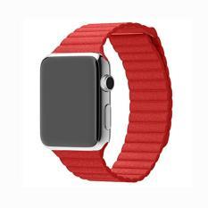 Spesifikasi Genuine Leather Magnetic Loop Band Tali Untuk Apple Watch Series 3 Seri 1 Dan Seri 2 42Mm Semua Model Baru