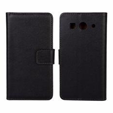 Kulit Asli Dompet Case Cover untuk Huawei Ascend G520/G525 (Hitam)-Intl