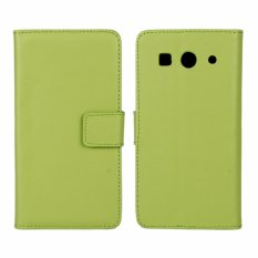 Kulit Asli Dompet Case Cover untuk Huawei Ascend G520/G525 (Hijau)-Intl