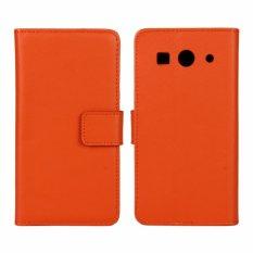 Kulit Asli Dompet Case Cover untuk Huawei Ascend G520/G525 (Orange)-Intl