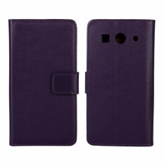 Kulit Asli Dompet Case Cover untuk Huawei Ascend G520/G525 (Ungu)-Intl