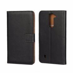Kulit Asli Dompet Case Cover untuk LG Stylus 2-Intl
