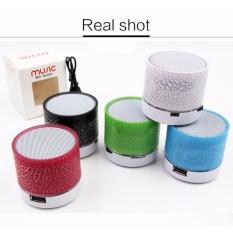 Promo Getek Vibrant Retak Bluetooth Speaker Baru Mini Portable Mobil Led Subwoofer U Disk Kartu Musik Universal Intl Di Tiongkok
