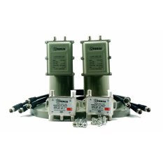 Getmecom LNB C Band 2 in 2 (2 Satelit 2 Receiver) Kembar Duo GM-999