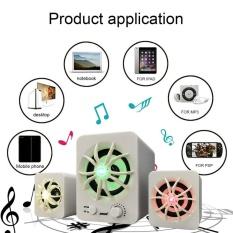 Hadiah Sada D-207 Warna-warni Bercahaya Ringan 2.1 Mengelilingi Suara Pembicara untuk Telepon Buah-Internasional