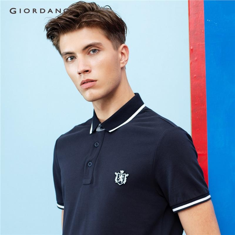 Jual Giordano Pria Lion Bordir Polo Shirt 01016242 Biru Intl Original