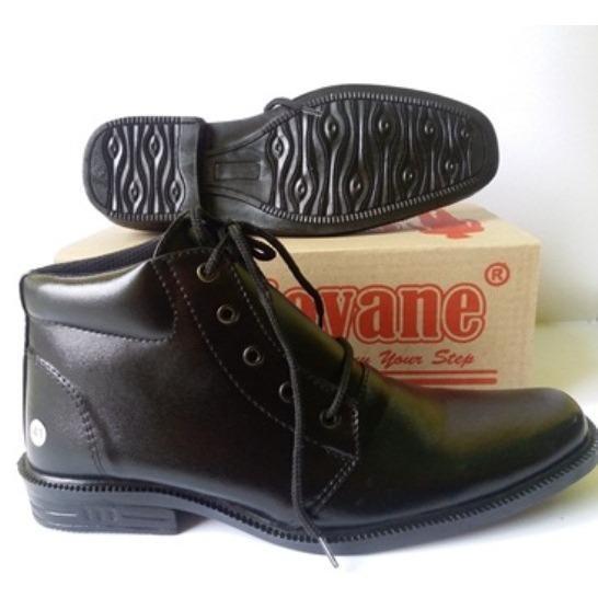 Jual Giovane Bt01 Sepatu Formal Pantofel Boots Pdh Pdl Mengkilap Kerja Kantor Premium Pria Bt01 Hitam Satu Set