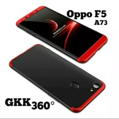 Gkk Hardcase 360 For Oppo F5 Full Body Protection Baby Skin Cover Hitam List Merah Free Tempered Glass Murah