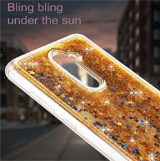 Glitter Crystal Clear Casing Tahan Guncangan Sarung Pelindung untuk ZTE ZMAX Pro Z981 GD-Intl