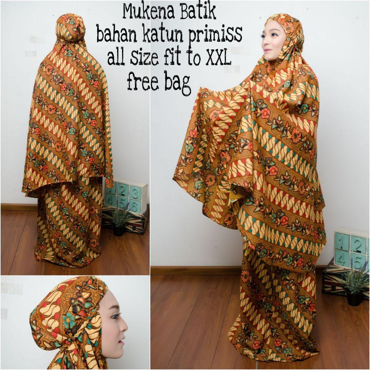 Glow fashion Stelan mukena batik jumbo perlengkapan sholat Fatma