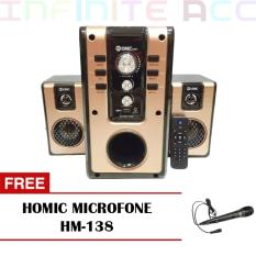 GMC 885 T Bluetooth Speaker Multimedia  ( Free Homic Microfone )