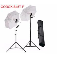 Godox Paket Studio AC Slave S45ST - Free Tas Lightstand