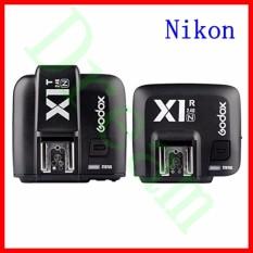 GODOX X1N 2.4 GHz I-ttl Wireless Transmitter dan Receiver Trigger Set Wireless LCD 1/8000 S HSS TTL Studio Flash Speedlite Pemicu Transceiver untuk Nik0n D610 D800E D800 D700 D300s D300 D600 D5300 D5200 D3100 D7100 D90 D4s D3 (X1N) -Intl