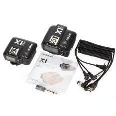 GODOX X1N TTL 2.4 GHz Wireless Flash Trigger dengan Layar Multi-fungsional Transmitter + Receiver untuk Nikon DSLR Kamera