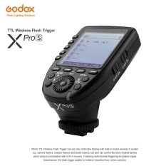Godox XproS TTL Wireless Flash Trigger Transmitter Support TTL Autoflash 1/8000s HSS Large LCD 5 Group Buttons 11 Customizable Functions for Sony a7 II a77 a99 ILCE-6000L a9 A7R A7RII a350 DSC-RX10 - intl