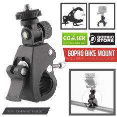 Godric Clamp Bike Mount Tripod Adapter Sepeda for Xiaomi Yi / GoPro / Brica Action Camera