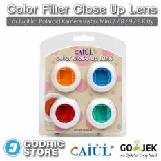 Spesifikasi Godric Color Filter Close Up Lens Fujifilm Polaroid Kamera Instax Mini 7 8 9 8 Kitty Yang Bagus