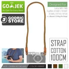 Godric Cotton Neck Strap Kepang Kamera Mirrorless Round Hole Leica M9 M8 / Fujifilm X100F X100T X100S XT10 XT20 etc - Coklat