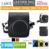 Cuci Gudang Godric Fujifilm Leather Bag Polaroid Instax Mini 70 Tas Case Pouch Kamera Hitam
