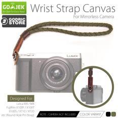 Godric Kanvas Wrist Strap Kepang Kamera Mirrorless Round Hole Leica M9 M8 / Fujifilm X100F X100T X100S XT10 XT20 etc - Hijau