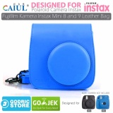 Beli Godric Leather Bag Tas Case For Fujifilm Kamera Instax Mini 8 Dan 9 Cobalt Blue Terbaru
