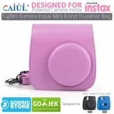 Godric Leather Bag/Tas/Case for Fujifilm Kamera Instax Mini 8 dan 9 - Flamingo Pink