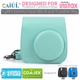 Diskon Produk Godric Leather Bag Tas Case For Fujifilm Kamera Instax Mini 8 Dan 9 Ice Blue