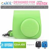 Tips Beli Godric Leather Bag Tas Case For Fujifilm Kamera Instax Mini 8 Dan 9 Lime Green Yang Bagus