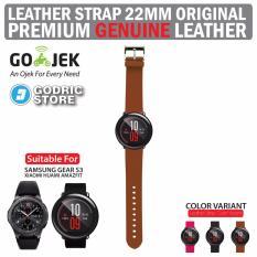 Godric Leather Strap Genuine Tali Kulit Asli 22M for Xiaomi Huami Amazfit / Samsung Gear S3 - Coklat