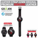 Godric Leather Strap Genuine Tali Kulit Asli 22M For Xiaomi Huami Amazfit Samsung Gear S3 Hitam Original