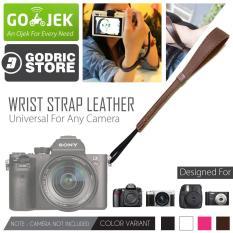 Godric Leather Wrist Strap Kamera Universal DSLR Mirrorless Fujifilm Sony Canon Leica Etc - Coklat