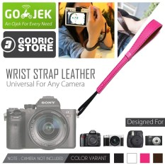 Godric Leather Wrist Strap Kamera Universal DSLR Mirrorless Fujifilm Sony Canon Leica Etc - Pink
