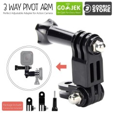 Godric Pivot Arm With Knob Adjustable 3 Way for Xiaomi Yi / GoPro / Brica Action Camera