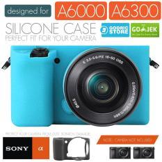 Godric Silicone Sony Alpha A6000 A6300 Silikon Case / Sarung Silicon Kamera Mirrorless - Biru