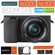 Godric Silicone Sony Alpha A6000 A6300 Silikon Case / Sarung Silicon Kamera Mirrorless - Hitam