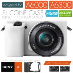 Godric Silicone Sony Alpha A6000 A6300 Silikon Case / Sarung Silicon Kamera Mirrorless - Putih