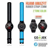 Harga Godric Xiaomi Huami Amazfit Silicone Strap 2 Sisi Warna 22 Mm Silicon Rubber Smartwatch Replacement Hitam Biru Online Dki Jakarta